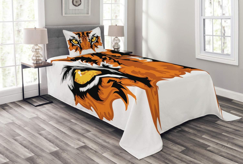 ABAKUHAUS Ojo Cubrecama, Tigre de Bengala Africana del Gato ...