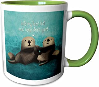 3dRose 281739_7 Mug, 11oz, Green/White