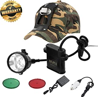 GearOZ Headlamp Flashlight, 4 LED Lighting Modes Rechargeable and Waterproof Headlight for Coon Hunting Camping 2.0