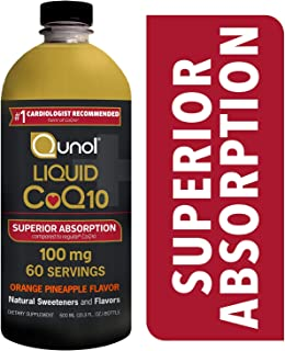 Qunol Liquid CoQ10 100mg, Superior Absorption Natural Supplement Form of Coenzyme Q10, Antioxidant for Heart Health, Orange Pineapple Flavored, 60 Servings, 20.3 oz Bottle