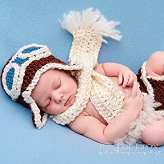 Baby Aviator Outfit for Newborn Photo Shoot Shower Gift