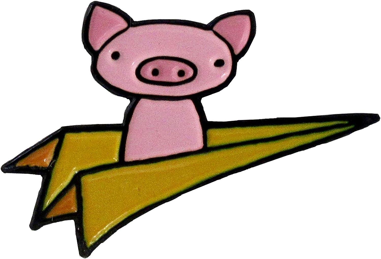 Mark Poulin Soft Enamel Pin, Flying Pig