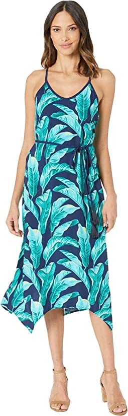 Lava Leaves Midi Slip Dress