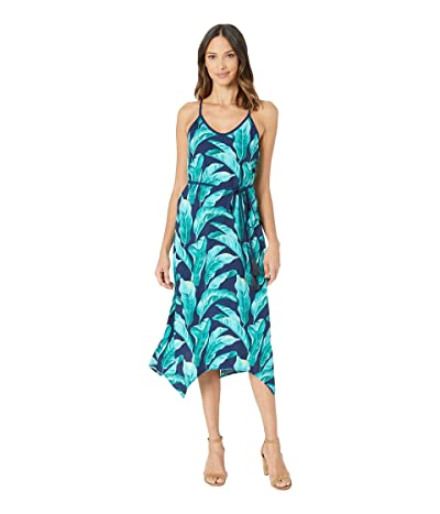 Tommy Bahama Lava Leaves Midi Slip Dress (Island Navy) Women