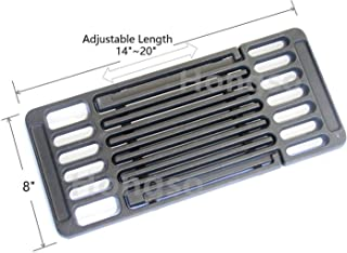 Hongso Universal Adjustable Cast Iron Grill Grate,Cooking Grid Grate Replacement for Gas Grill, Extends from 14