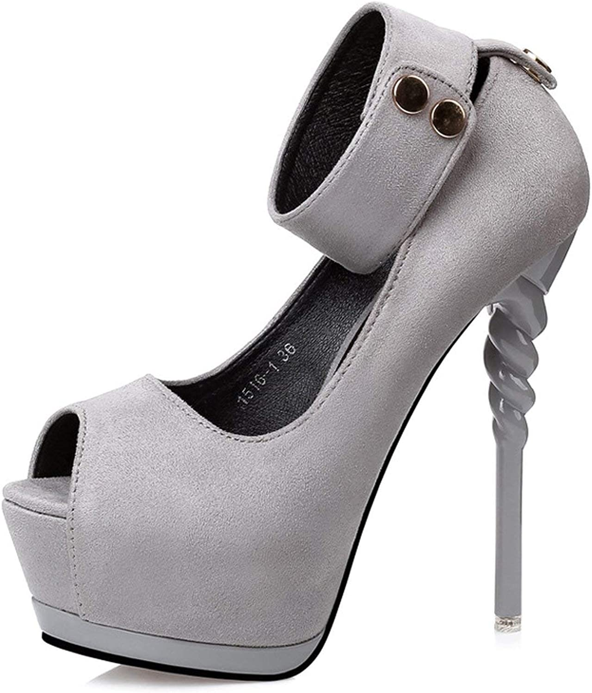 Högt häl Kvinnliga skor Vattentäta Plattformar höga klackar klackar klackar Stiletto Sexig Fiskmun Ensamstående skor  garanterat