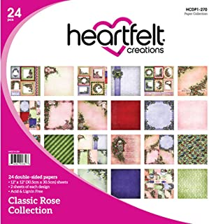 Heartfelt Creations Classic Rose, 12 Designs/2 Each Double-Sided Paper