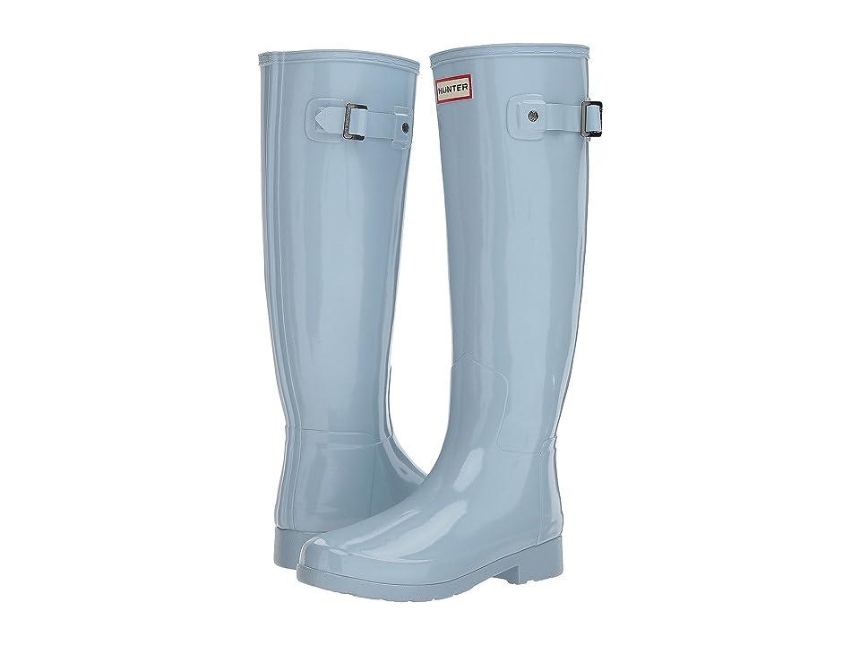 Hunter Original Refined Gloss Rain Boots (Fountain Blue) Women