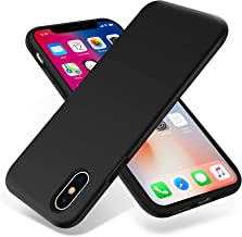for iPhone X Case, OTOFLY [Silky and Soft Touch Series] Premium Soft Silicone Rubber Full-Body Protective Bumper Case Compatible with Apple iPhone X(ONLY) - Black