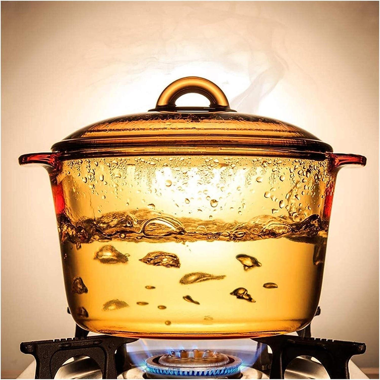 Slow Cooker Met 1L Amber Straight Burning Pot Pot van de Soep Weerstand Op hoge temperatuur gehard glas Slow Cooke geschikt for familie diner Steam Cook Stew (Color : S) D