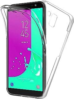 TBOC Funda para Samsung Galaxy J6 (2018) J600F - Carcasa [Transparente] Completa [Silicona TPU] Doble Cara [360 Grados] Protección Integral Total Delantera Trasera Lateral Móvil Resistente Golpes