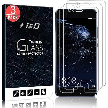 J&D Compatible para Huawei P10 Plus Protector de Pantalla, 3-Pack ...