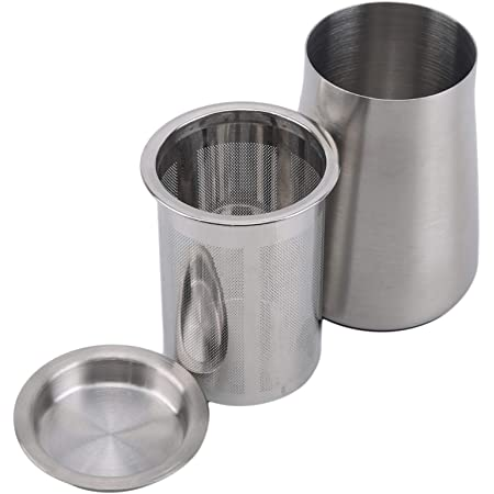 LJSLYJ コーヒーふるい ステンレス 粉ふり缶 蓋付き 粉ふるい フィルター コーヒー用品 ココア チョコレート コショウ パウダー 粉ふり ボトル カップ 耐久性 3色選べる,銀