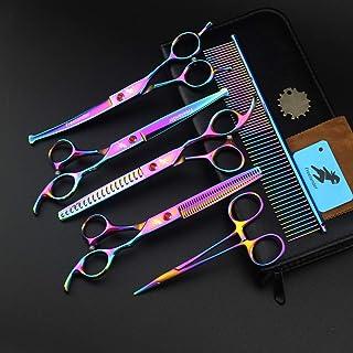 Poetry Kerry 7 pollici colore: Viola Forbici professionali per animali domestici in acciaio 440C