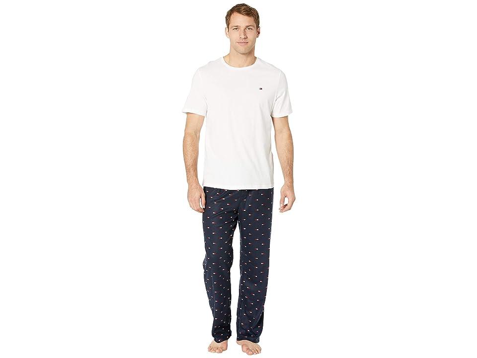 Tommy Hilfiger Cozy Fleece Pajama Set (Navy) Men