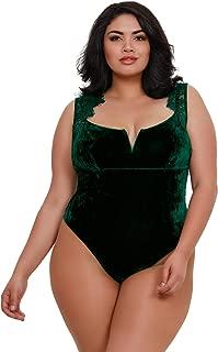 plus size green bodysuit