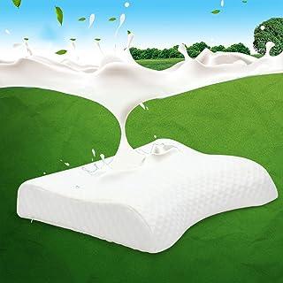 almohada de látex Almohada hembra única de látex natural, Almohada baja, Almohada fina, Almohada baja, Almohada cervical, almohada suave ( Color : Blanco )