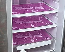 Kuber Industries Santa Claus with Deer 3 Piece PVC Refrigerator Drawer Mat Set - Pink