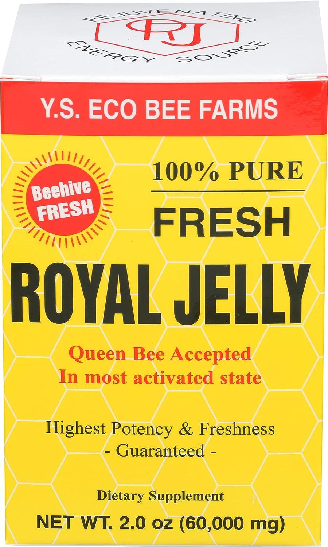 100% Pure Fresh Royal Jelly 60 000 mg oz YS Bee Eco 2.0 Max 62% OFF Max 77% OFF Li Farms