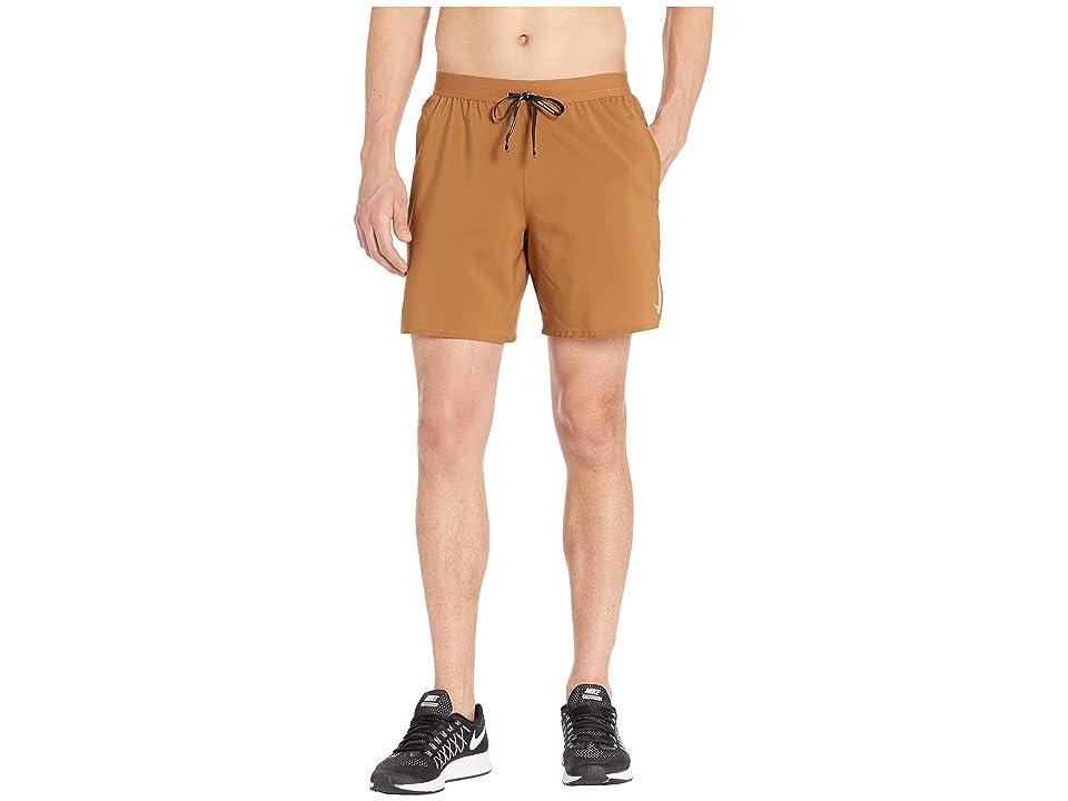 Nike Flex Stride Shorts 7 BF (Ale Brown/Metallic Silver) Men
