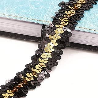 luccicante Intrecciato Paillettes Nastri Glitter Paillettes per Fai da Te progetti Fai da Te Deike Mild 40ft DIY Paillettenband Indumenti Gold Danza
