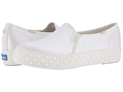 Keds x kate spade new york Bridal Triple Decker Pearl Foxing (Cream Faille) Women
