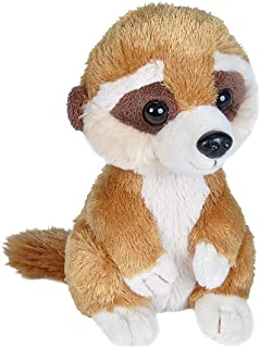 Wild Republic Hug'ems Soft Toy, Gifts for Kids, Meerkat Cuddly Toy 18cm