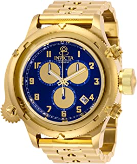 Invicta Men's Russian Diver Quartz Watch with Stainless Steel Strap, Gold, 26 (Model: 28418)
