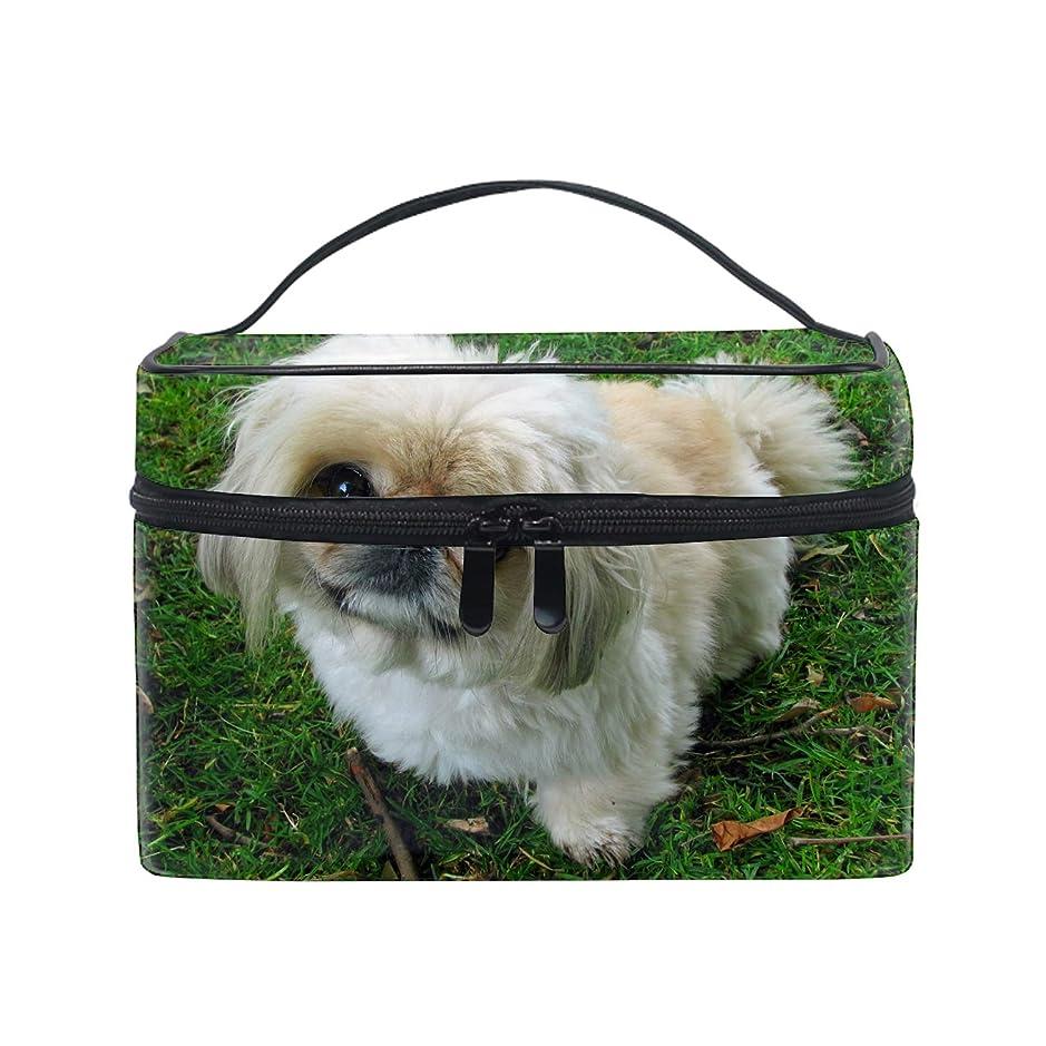 フレアヘビースタウトレディースシーズー犬 小物入れケース 化粧ポーチ 小物用収納ポーチ 化粧品収納袋