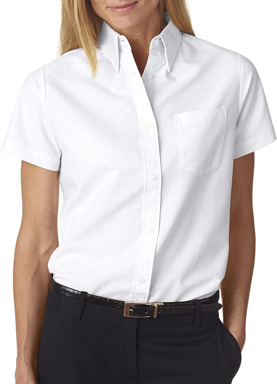 UltraClub 8973 Short Sleeve Ladies Oxford Sht