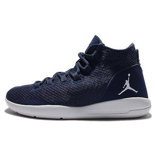 c6cbe5b39953 Nike Jordan Mens Jordan Reveal Mid Navy Pr Pltnm Infrrd 23 Basketball Shoe  9 Men