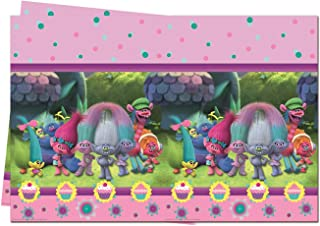 Birthday Party Supply Trolls Plastic Tablecover -Multi Color 53316