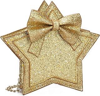 COAFIT Kids Shoulder Bag Glitter Star Shape Messenger Bag Crossbody Bag