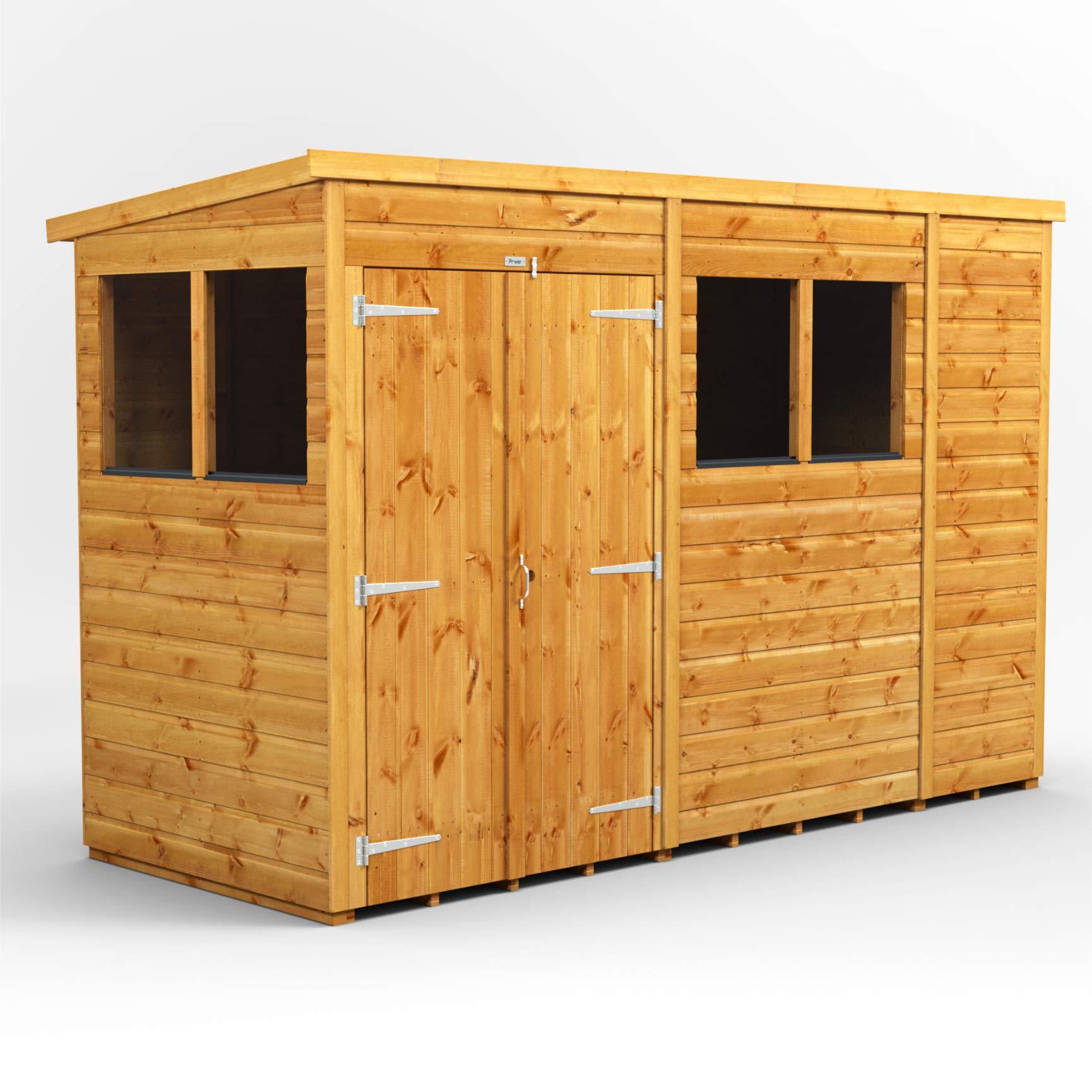 POWER Cobertizo de Madera para jardín de Doble Puerta de 10 x 4 Pulgadas Sheds: Amazon.es: Jardín