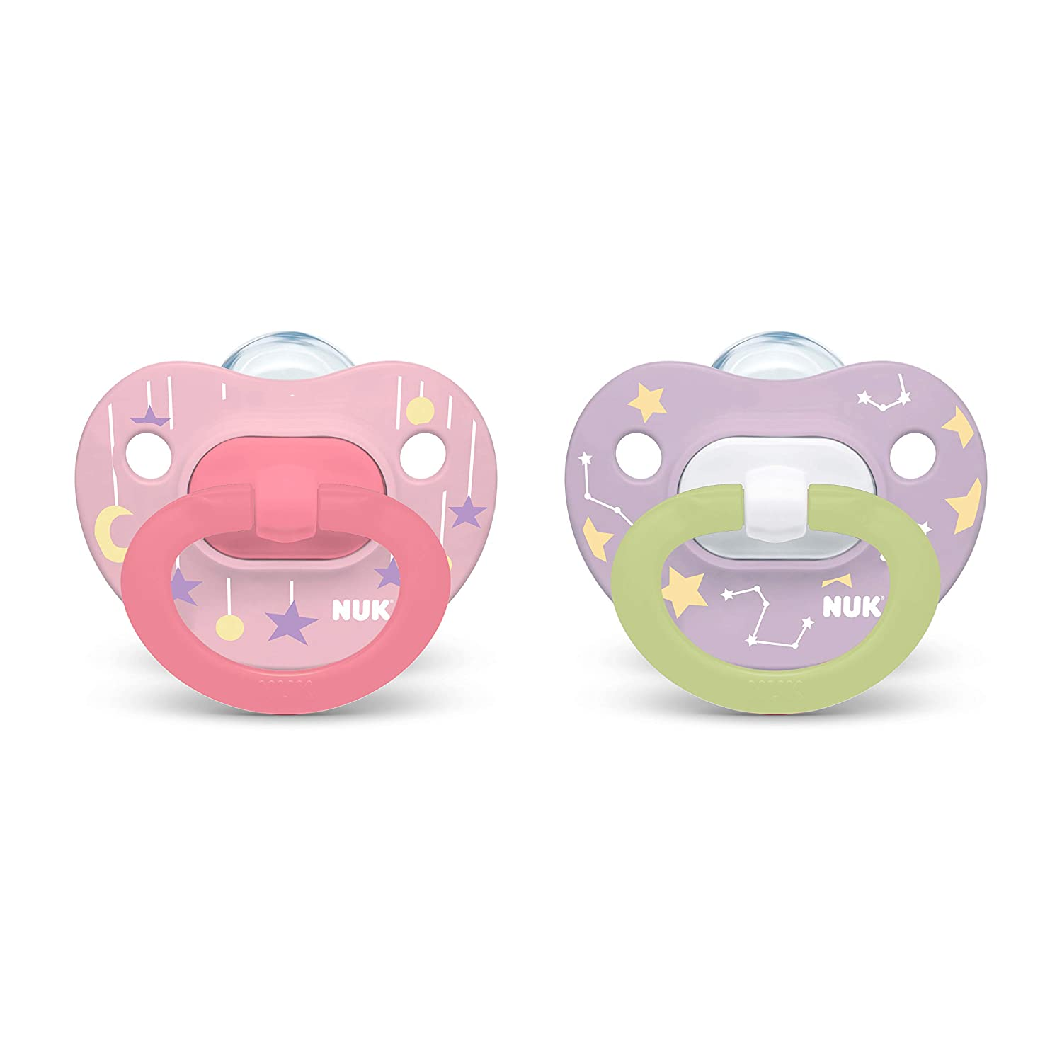 NUK Glow-in-The-Dark All stores are sold Popular shop is the lowest price challenge Orthodontic Pacifiers Zebra Pa 0-6 Month