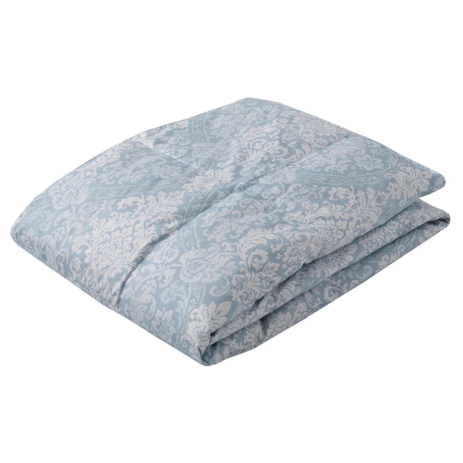 わかりやすいコンパイル毛細血管西川(Nishikawa) ダウンケット (羽毛肌掛け布団) ブルー シングル ダックダウン70% 洗える 軽量 抗菌防臭 クレセント KE09005002B2