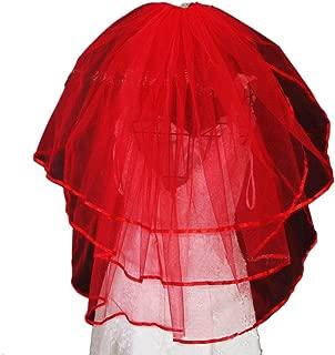 Vimans 2019 Women's Fashion Short Bridal Wedding Veils with Comb