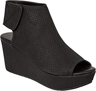 Pierre Dumas Womens Natural-2 Backless Slip-On Chunky Stacked Heel Fashion Mule Bootie