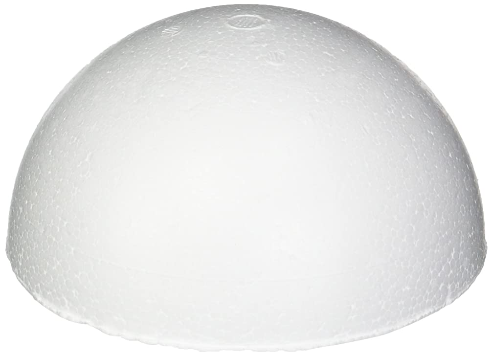 Smoothfoam RT129H-4 Pastel Half Ball, 4.5-Inch, White, 4-Pack