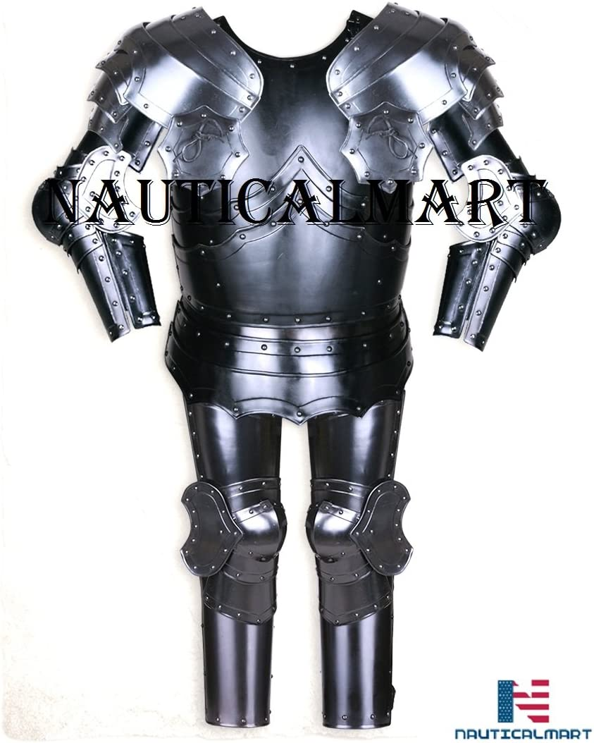 quality assurance Gothic Suit of Armor Half Medieval Armour Shining Knight H Surprise price Steel