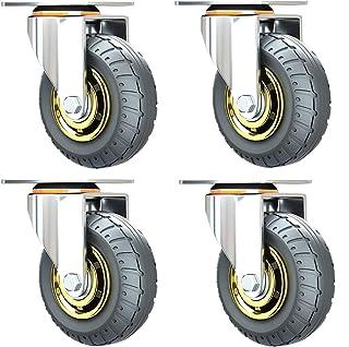 LKLXJ Markless Polyurethaan Castor, Caster wiel met rem, Vervanging wiel, Stofhoes, Flexibele 360 graden rotatie, Ingebouw...