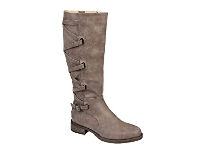 Journee Collection Carly Boot Wide Calf (Taupe) Women