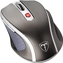Qtuo 2.4G ワイヤレスマウス 無線マウス 2.4Gマウス 5DPIモード 高精度 ボタンを調整可能 コンパクト 省エネルギー 持ち運び便利-灰色