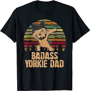 Funny Dabbing Badass Yorkie Dad T-Shirt