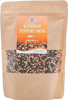 52USA Rainbow Pepper 12oz, Peppercorn Blend of Grinder, Whole White Peppercorns, Red Peppercorn, Black Pepper Mix