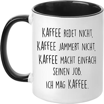 Tasse mit Spruch - Kaffee jammert Nicht - beidseitig Bedruckt - Kaffeetasse - lustig - Arbeit - Büro - Chef - Geschenk preisvergleich bei geschirr-verleih.eu