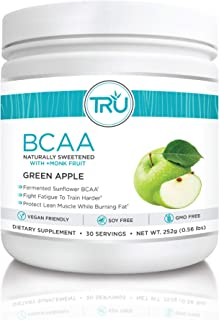 TRU BCAA, Plant Based Branched Chain Amino Acids, Vegan Friendly, Zero Calories, No artificials sweeteners or Dyes, Improv...