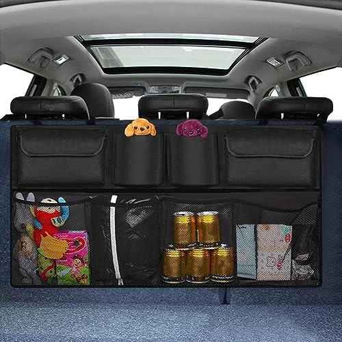 Heavy Duty Backseat Trunk Organiser for Kids,Travel Siivton Car Boot Organiser
