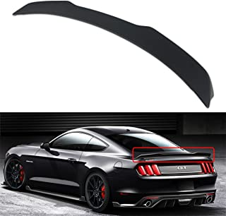 Cuztom Tuning Fits for 2015-2018 Ford Mustang S550 H Style Matt Balck Primer Finish ABS Rear Trunk Spoiler Wing