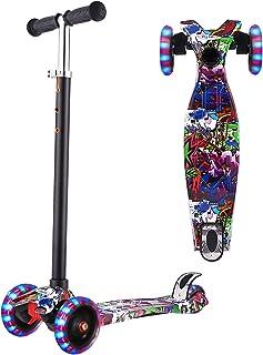WeSkate Scooters for Kids, Lights Up Scooter for Girls Boys, Adjustable Height, Design for Children Ages 2-12